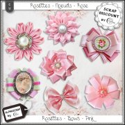 Bows - Rosettes - Pink