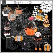 Elements CU - 364 Halloween vintage
