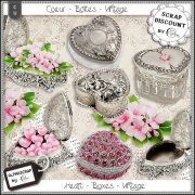Hearts - Boxes - Vintage 3