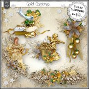 Gold Christmas - embellishments
