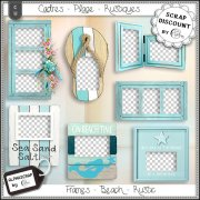 Frames - Beach - Sea - Summer - Distressed 6