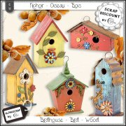 Birdhouse - Bird - Wood - Rustic 1