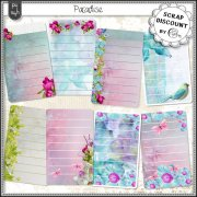 Paradise - journaling cards