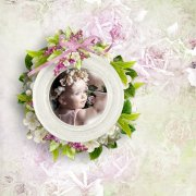 Shabby chic Easter day - clusters