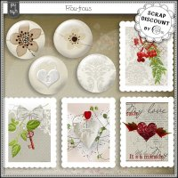 Frou-frous - boutons (et timbres)