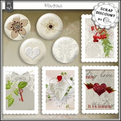 Frou-frous - timbres (et boutons)