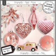 Ornaments - Christmas - Pink 2