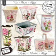 Containers - Flowers - Vintage 1