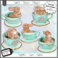 Rabbits - Cups - Easter