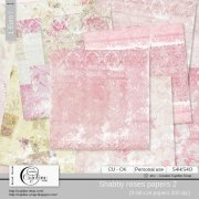 Shabby roses papers CU 2