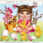 Elements cu - 409 Easter ... the little girl with chicks !