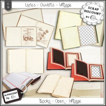 Books - Open - Vintage