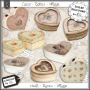 Hearts - Boxes - Vintage 1