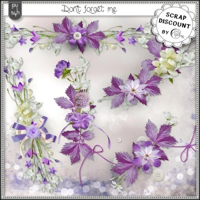 Don't forget me - embellissements