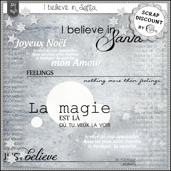 I believe in Santa - mots d'art