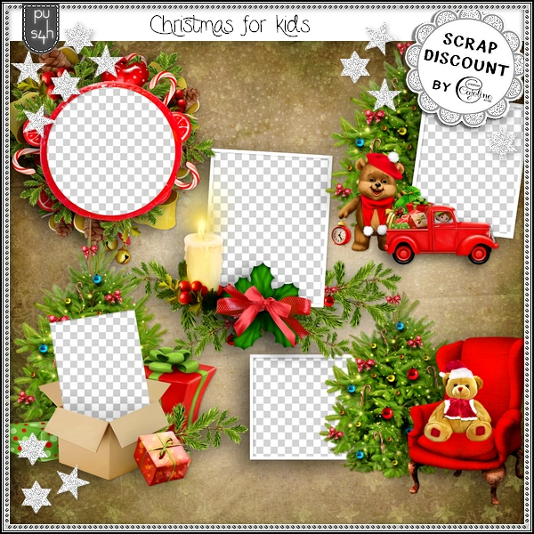 Christmas for kids - clusters