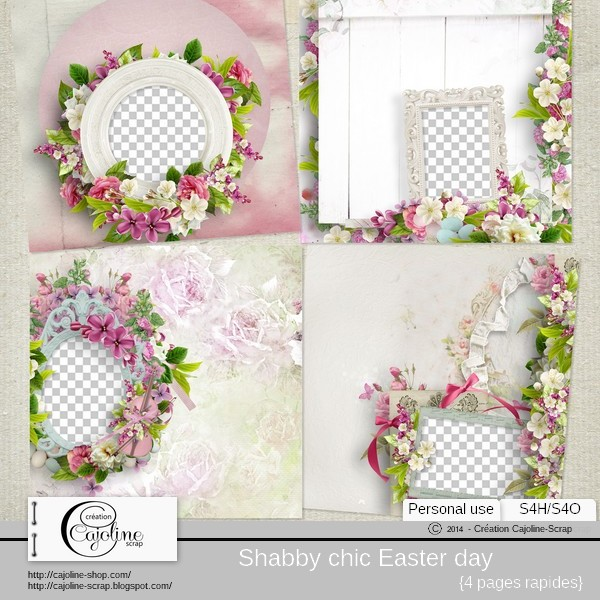 Shabby chic Easter day - pages rapides