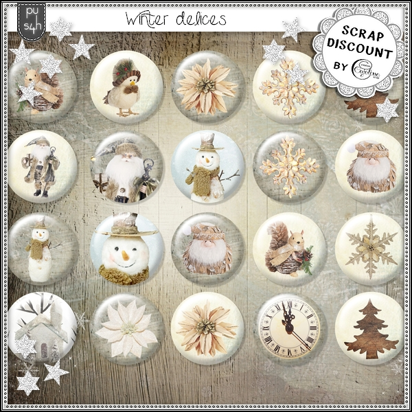 Winter delices - boutons