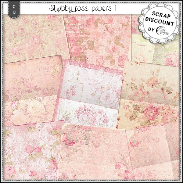 Shabby roses papers 1