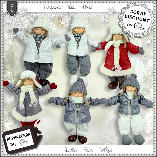 Dolls - Fabric - Winter