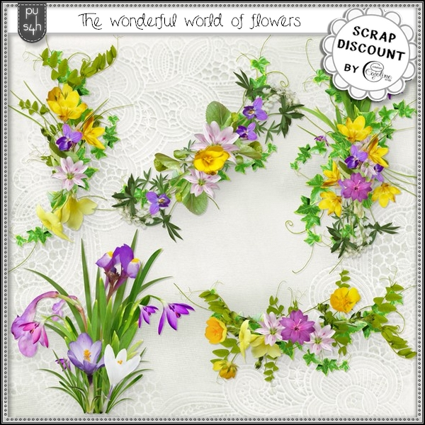 The wonderful world of flowers - embellissements - Cliquez sur l'image pour la fermer