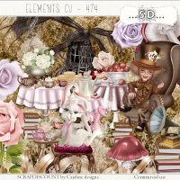 Elements cu - 474 Mad Hatter's Tea Party I, II and III