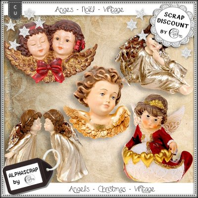 Angels - Christmas - Vintage - Figurines