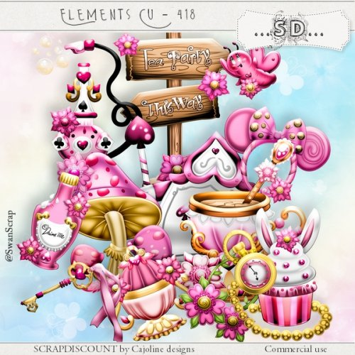 Elements cu - 418 Alice Tea-party part2