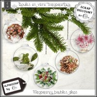 Baubles - Christmas - transparency - glass