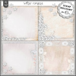Winter romance - Stacked papers