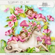 Elements cu - 407 Fairy and Unicorn