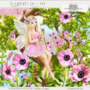 Elements cu - 449 The fairy with anemones