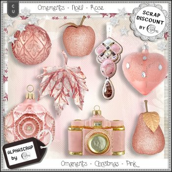 Ornaments - Christmas - Pink 1