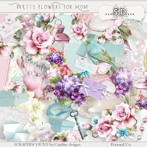 Pretty flowers for Mom - full size kit