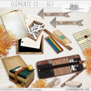 Elements CU - 363 Vintage school supplies