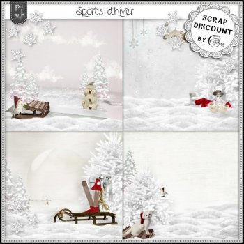 Sports d'hiver - Scenic papers