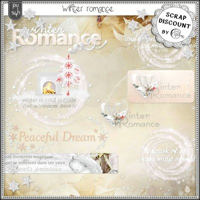Winter romance - Decorated wordarts