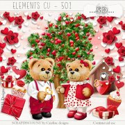 Elements cu - 501 Teddies in love 2