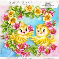 Elements cu - 435 Spring birds and flowers
