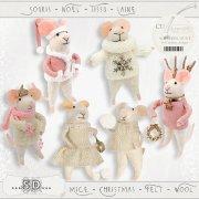 Mice - Christmas - felt - wool 2