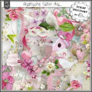 Shabby chic Easter day - stacked papers