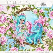 Elements cu - 467 The fairy, the dragon and the peonies