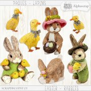 Easter - Rabbits - Natural sisal 2