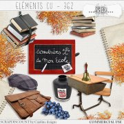 Elements CU - 362 Vintage school supplies