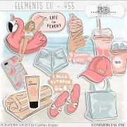 Elements cu - 455 summer vintage stickers