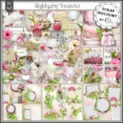 Shabby-chic treasures - stacked papers
