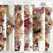 Autumnal flea market - borders