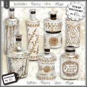 Bottles - Flacons - Glass - Vintage
