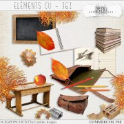 Elements CU - 361 Vintage school supplies