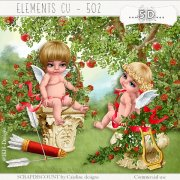 Elements cu - 501 Valentine's cupids